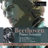 Beethoven: Piano Sonatas Nos. 11, 19, 20, & 15, Vol. 6 / Sequeira Costa, piano