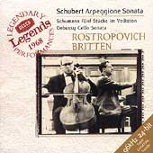 Schubert, Debussy, etc / Rostropovich, Britten