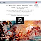 Mozart: Credo Mass, Litanie de Venerabil / Harnoncourt