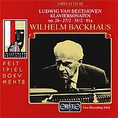 Beethoven: Piano Sonatas Op 26, 27 no 2, etc / Backhaus