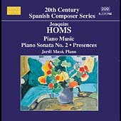 20th Century Spanish Composer - Homs: Piano Music Vol 3