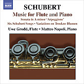 Schubert: Music for Flute and Piano / Grodd, Napoli