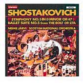 Shostakovich: Symphony no 5, ete / J&auml;rvi, Scottish Natl Orch
