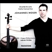 Dvorak: Cello Concerto, Op. 104; Lalo: Cello Concerto in D minor / Johannes Moser, cello. Jakub Hrusa, Prague PO