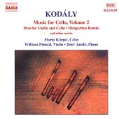 Kodály: Music for Cello Vol 2 / Kliegel, Preucil, Jandó