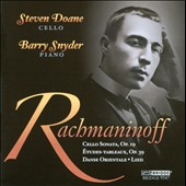 Rachmaninov: Works For Cello & Piano / Steven Doane, cello; Barry Snyder, piano