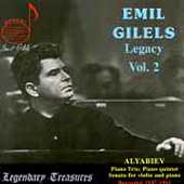 Legendary Treasures - Emil Gilels Legacy Vol 2 - Alyabiev
