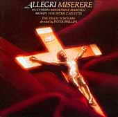 Allegri: Miserere;  Palestrina: Missa Papae Marcelli