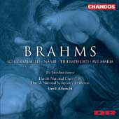 Brahms: Schicksalied, N&auml;nie, Triumphlied, et al / Albrecht