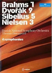 4 Symphonies - Dausgaard conducts Brahms: 1; Dvorak: 9; Sibelius: 5; Nielsen: 3 / Danish National SO [2 DVD]