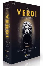 The Verdi Opera Selection, Vol. 1 - Verdi Performances across the Eras of Trovatore; Don Carlos & Rigoletto / Karajan, Vargas, Nucci et al. [4 DVD]