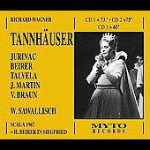 Wagner: Tannh&auml;user, etc / Sawallisch, Beirer, Jurinac, et al