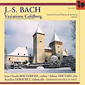Bach: Goldberg Variations / Bouverese, Toutain, Sabouret