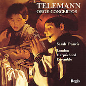 Telemann: Oboe Concertos Vol 1 / Sarah Francis, et al