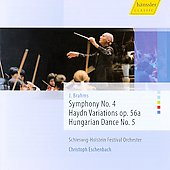 Brahms: Symphony no 4, Haydn Variations, Op 56a, Hungarian Dance no 5 / Eschenbach, et al