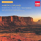 American Classics - Copland: Symphony no 3, Danz&oacute;n Cubano, Dance Symphony / Enrique B&aacute;tiz, Eduardo Mata, et al