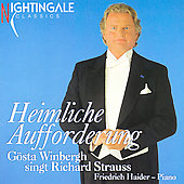 Heimliche Aufforderung: G&#246;sta Winbergh singt Richard Strauss