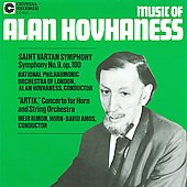 Hovhaness: Concerto for Horn, Symphony no 9 / Amos, Rimon, et al