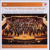 The Berlin Philharmonic Plays Mozart - Symphonies nos 23, 25, 28, 29, 31, 35, 36, 39, 40, 41; Serenades, Sinfonia Concertante [7 CDs]