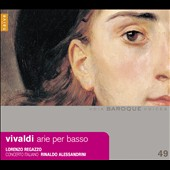 Antonio Vivaldi: Arias for Bass Baritone / Lorenzo Regazzo, bass