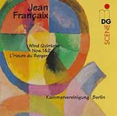 Jean Fran&ccedil;aix: Wind Quintets Nos. 1 & 2, L'Heure du Berger / Kammervereinigung Berlin