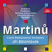 Martinu: Overture, Rhapsody, etc / Belohlavek, Czech PO