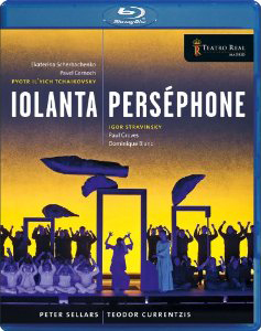 Tchaikovsky: Iolanta; Stravinsky: Persephone / Ekaterina Scherbachenko, Pavel Cernoch, Paul Groves, Dominique Blanc. Teador Currentzis, Teatro Real Orch. & Chorus. Peter Sellers, director [Blu-Ray]