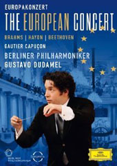 Gustavo Dudamel - The European Concert: works by Brahms, Haydn, Beethoven / Gautier Capucon, Berliner PO  [DVD]