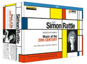 Simon Rattle conducts & explores Music of the 20th Century in 7 programs tracing chief musical developments from Mahler to the present day / Simon Rattle, City of Birmingham SO [3 Blu-ray]