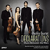 Declarations - Music Between the Wars / Pacifica Quartet