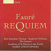 Coro Live - Faure: Requiem;  Mozart: Vespers / Christophers, et al
