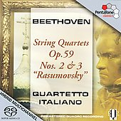 Beethoven: String Quartets Op 59 no 2 & 3 / Quartetto Italiano
