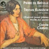 De Bréville & Klingsor: Works for Piano