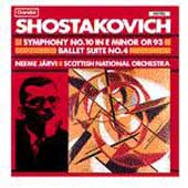Shostakovich: Symphony no 10, etc / Järvi, Scottish NO