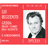 Meyerbeer: Les Huguenots / Marzendorfer, Gedda, Shane, et al