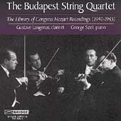 Library of Congress Mozart Recordings / Budapest Quartet