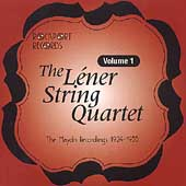 Léner String Quartet - Complete Recordings Vol 1