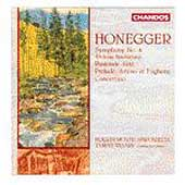 Honegger: Symphony no 4, etc / V&aacute;s&aacute;ry, Bournemouth Sinf