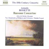 The 18th Century Concerto - Rosetti: Bassoon Concertos