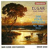Elgar: Part Songs / Paul Spicer, The Finzi Singers