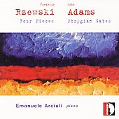 Rzewski: Four Pieces;  Adams: Phrygian Gates / Arciuli