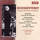 Live Recordings 1943-1948 / Serge Koussevitzky