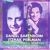 Stravinsky, Prokofiev: Violin Concertos / Perlman, Barenboim
