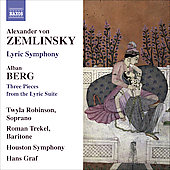 Zemlinsky: Lyric Symphony Op 18;  Berg: Pieces from the Lyric Suite / Graf, Trekel, Robinson, et al