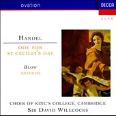 Handel: Ode for St. Cecilia's Day; John Blow: Anthems