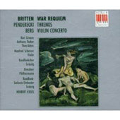 Britten: War Requiem;  Berg: Violin Concerto;  Penderecki