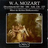 Mozart: Divertimenti / Berlin Philharmonic Orchestra Winds