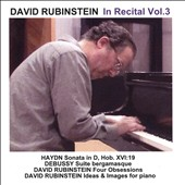 David Rubinstein In Recital, Vol. 3