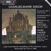 Widor: Symphonies for Organ / Hans Fagius