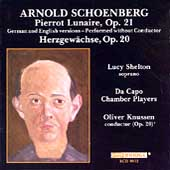 Schoenberg: Pierrot Lunaire, etc / Shelton, Da Capo Chamber